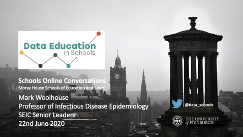 Thumbnail for entry Moray House Online Conversations - Mark Woolhouse, Professor of Infectious Disease Epidemiology