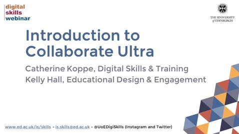 Thumbnail for entry Introduction to Collaborate Ultra course recording (September 2021)