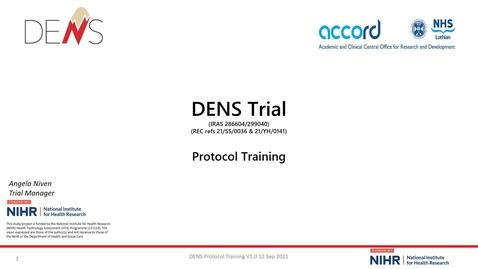 Thumbnail for entry DENS SIV Protocol Training slides