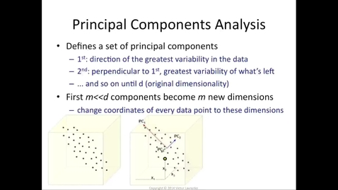 Thumbnail for entry Principal component analysis