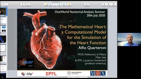 Thumbnail for entry Alfio Quarteroni 20 July The mathematical heart: a computational model for the simulation of the heart function