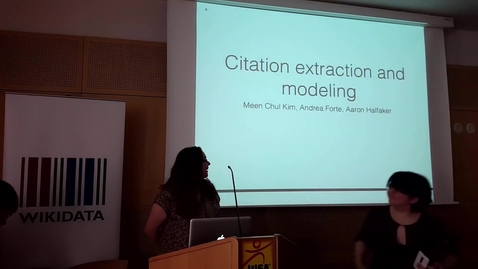 Thumbnail for entry Citation extraction and modeling - Andrea Forte, Meen Chul Kim, Aaron Halfaker at WikiCite 2017