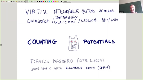 Thumbnail for entry Counting monster potentials - Davide Masoero