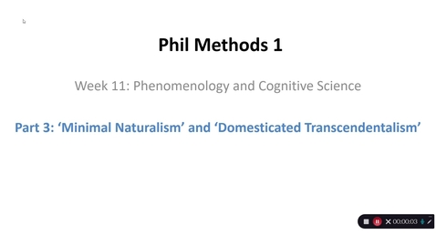Thumbnail for entry Phil Methods 1 - Week 11 - Part 3