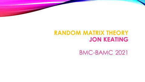 Thumbnail for entry BMC BAMC 2021 Jon Keating