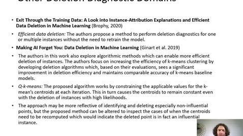 Thumbnail for entry XAI Lecture Recording - Deletion Diagnostics (Part 3)