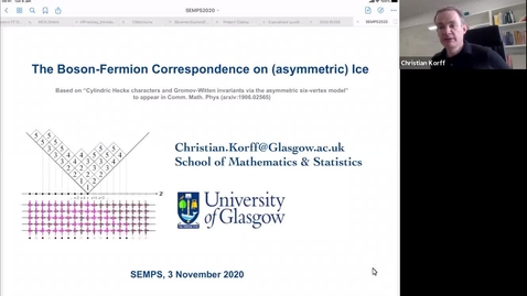 Thumbnail for entry South East Mathematical Physics Seminars:  Christian Korff