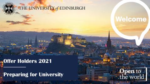 Thumbnail for entry Starting University 2021/22: Information for offer holders