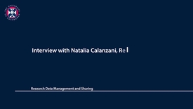 Thumbnail for entry Research Data Management and Sharing - Interview with Natalia Calanzani