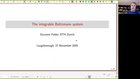 Thumbnail for entry Giovanni Felder - The integrable Boltzmann system