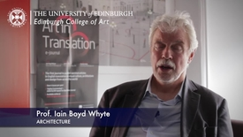 Thumbnail for entry Iain Boyd Whyte -Architecture - Research In A Nutshell-Edinburgh College of Art-13/11/2012