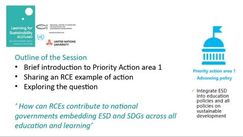 Thumbnail for entry RCE Global Webinar 04 Feb 2021 - Part Three - Breakout sessions:  1: Advancing Policy