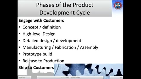Thumbnail for entry 1b - Phases of the Product Development Cycle