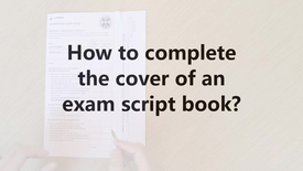 Thumbnail for entry How to fill in the cover of an exam script book?