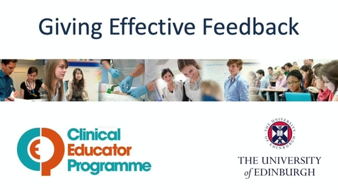 Thumbnail for entry CEP Giving Effective Feedback - The Student Perspective