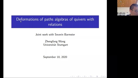 Thumbnail for entry LAGOON: Leicester Algebra and Geometry Open ONline - Zhengfang Wang (Stuttgart, Germany)