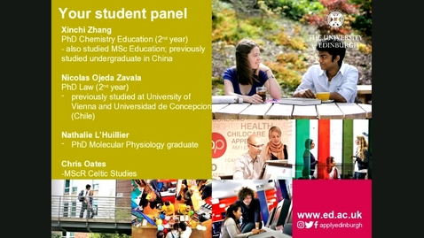 Thumbnail for entry Ask our students panel - Postgraduate Research - Doug Thompson