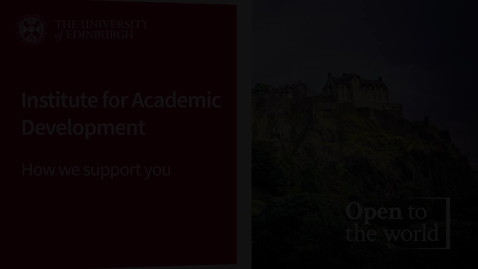 Thumbnail for entry Institute For Academic Development - How We Support You