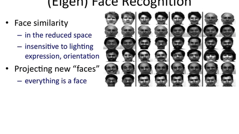 Thumbnail for entry Properties of eigenfaces