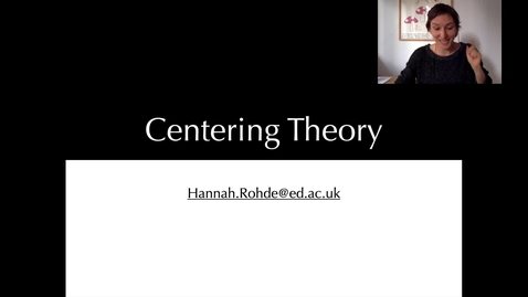 Thumbnail for entry Practice with Centering Theory