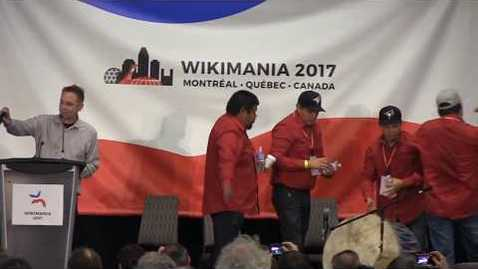 Thumbnail for entry Wikimania 2017 Opening: Jimmy Wales and Gabriella Coleman in conversation - Community and information in a partisan world