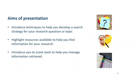 Thumbnail for entry Research Process (RP) - Week 3: Developing a search strategy and managing search results