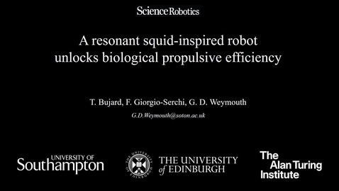 Thumbnail for entry Squid-inspired robot is masterstroke of design