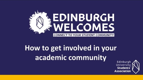 Thumbnail for entry (UG) How to get involved in your academic community