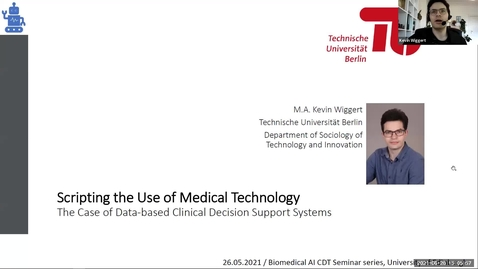 Thumbnail for entry Scripting the Use of Medical Technology – The Case of Data-based Clinical Decision Support Systems