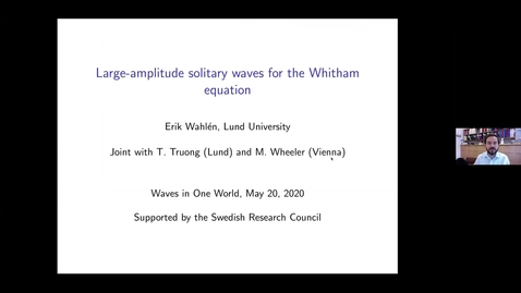 Thumbnail for entry One World Waves Seminar - E Whalen