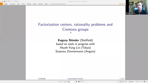 Thumbnail for entry LAGOON: Leicester Algebra and Geometry Open ONline - Evgeny Shinder (Sheffield)