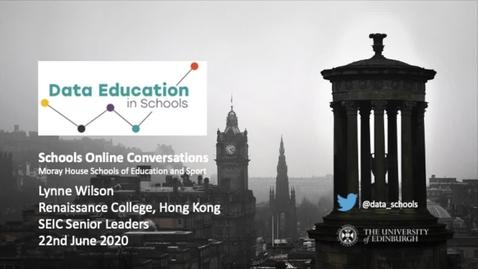 Thumbnail for entry Moray House Online Conversations - Lynne Wilson, Hong Kong