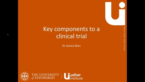 Thumbnail for entry Key components to a clinical trial