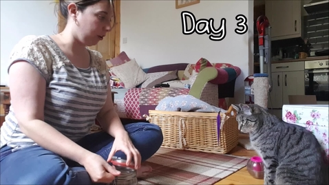 Thumbnail for entry Training a Cat to Present a Paw in 9 Days