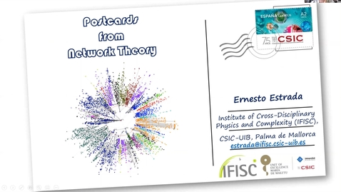 Thumbnail for entry Postcards from Network Theory - Ernesto Estrada