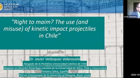 Thumbnail for entry 'Right to maim? The use (and misuse) of kinetic impact projectiles in Chile' 12th October 2020