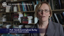 Thumbnail for entry Sarah Cunningham Burley -Centre for Population Health Sciences-Research In A Nutshell- MRC Institute of Genetic and Molecular Medicine-28/01/2012
