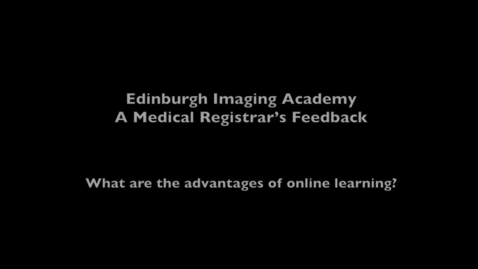 Thumbnail for entry Nick, Imaging MSc online student - Benefits of online learning