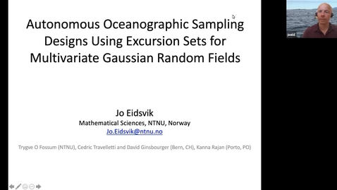 Thumbnail for entry Research and teaching in statistical and data sciences - Jo Eidsvik (NTNU)