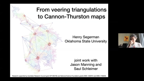 Thumbnail for entry From veering triangulations to Cannon-Thurston maps  - Henry Segerman