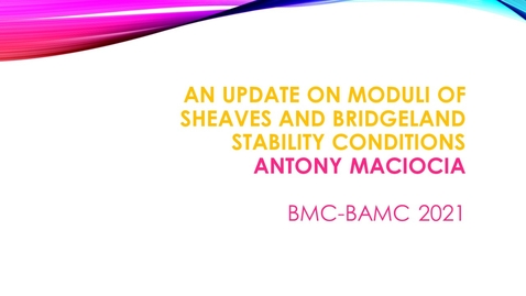 Thumbnail for entry BMC BAMC 2021 Antony Maciocia