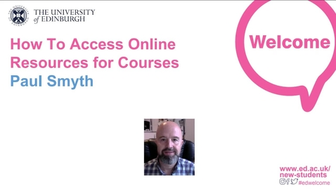 Thumbnail for entry (UG/PG) How To Access Online Resources for Courses