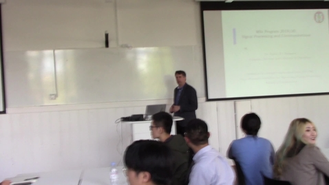Thumbnail for entry MSc Signal Processing and Communications Meeting with Programme Director