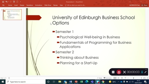 Thumbnail for entry Business School Year 1 Course Options - Final