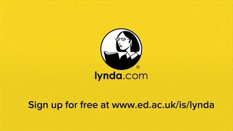 Thumbnail for entry Lynda.com at The University of Edinburgh