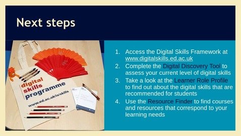 Thumbnail for entry How to develop your Digital Skills
