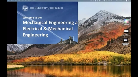 Thumbnail for entry Mechanical Engineering New Students Welcome Talk