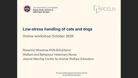 Thumbnail for entry Low stress handling of cats and dogs
