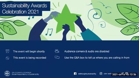 Thumbnail for entry Sustainability Awards Celebration 2021