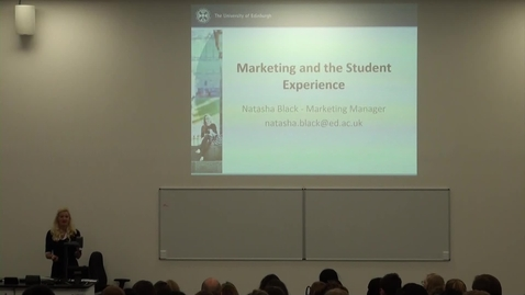 Thumbnail for entry 11. Marketing and the Student Experience